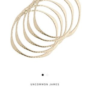 Jewelry - Uncommon James Gold Warp Bangle Bracelet